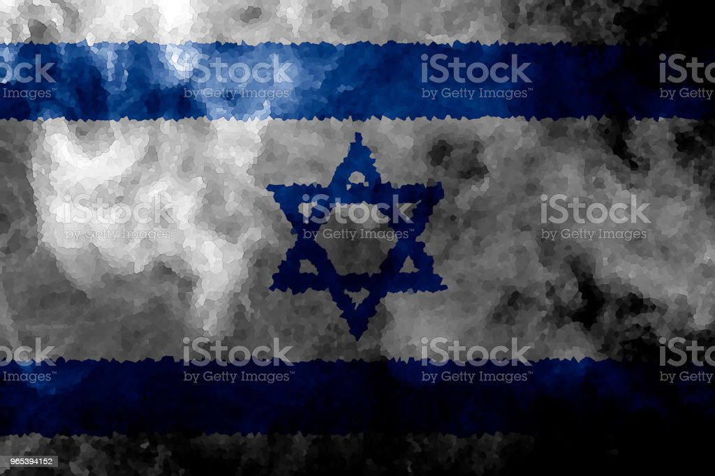 National flag of Israel royalty-free stock photo