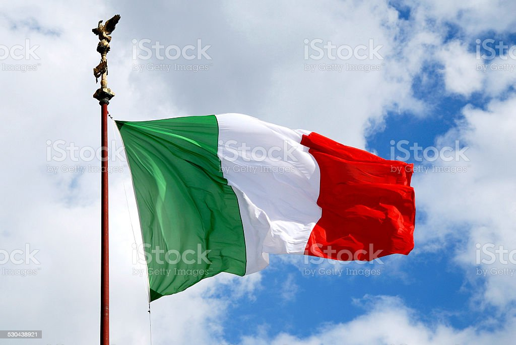 National flag of Italy stock photo