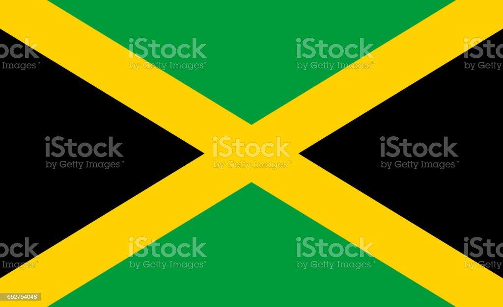 Bandeira Nacional da Jamaica - foto de acervo