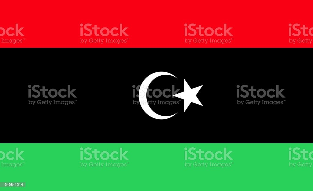 National flag of Libya stock photo