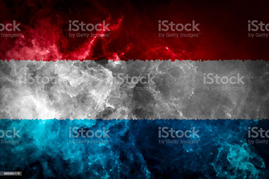 National flag of Luxembourg royalty-free stock photo