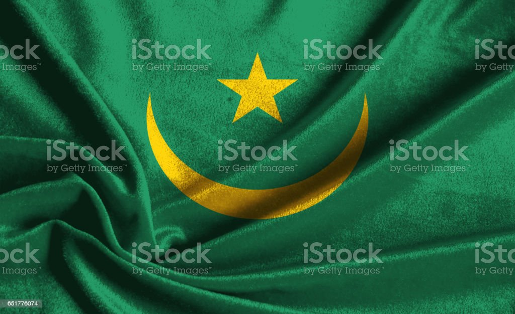 National flag of Mauritania stock photo