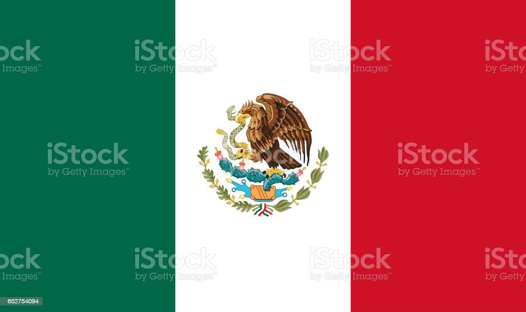 National flag of Mexico stock photo