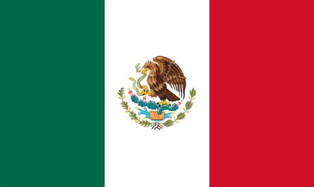 bandera nacional de méxico - bandera mexico fotografías e imágenes de stock