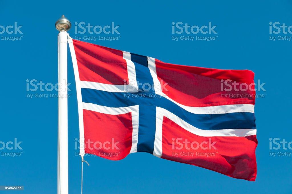Bandeira Nacional da Noruega - fotografia de stock