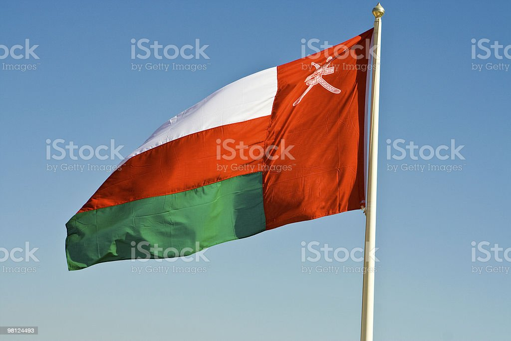 national flag of Oman royalty-free stock photo