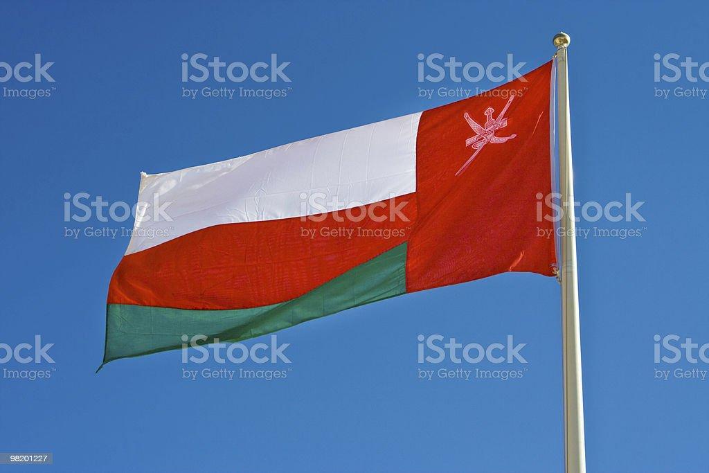 Bandiera nazionale dell'Oman foto stock royalty-free