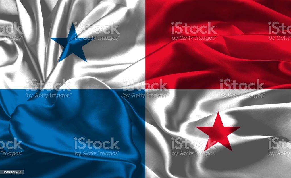 Bandeira Nacional do Panamá - foto de acervo