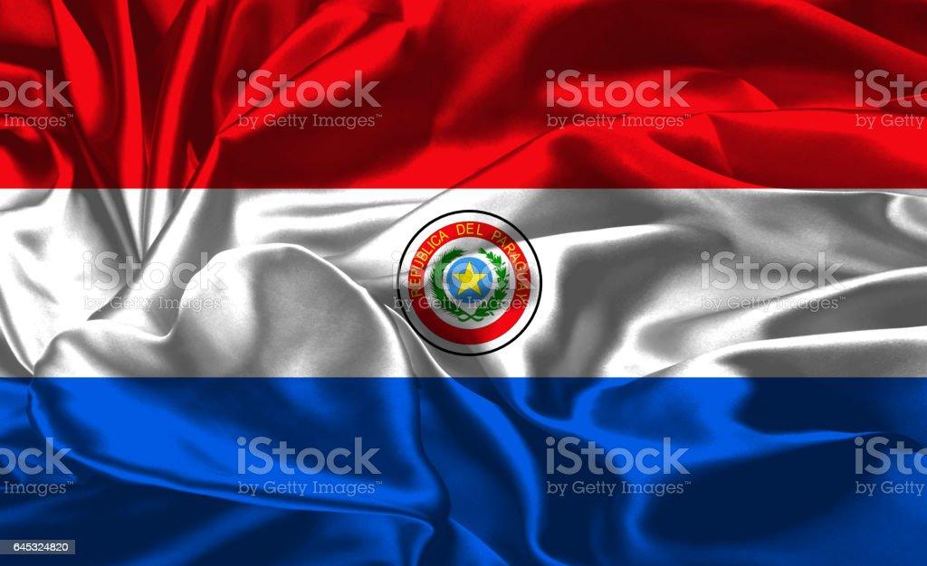 Bandera nacional de Paraguay - foto de stock