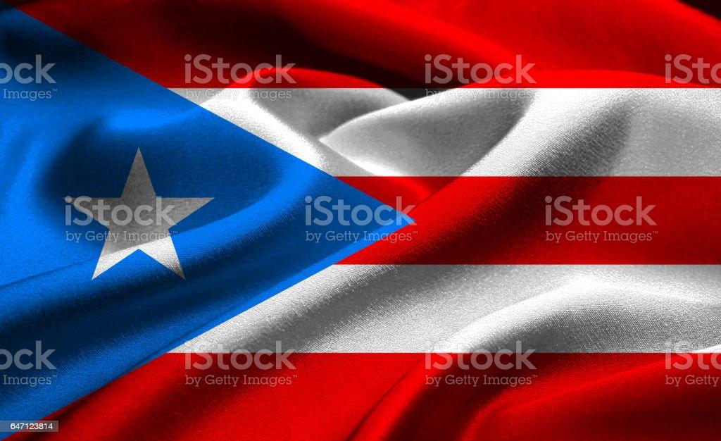 Bandera Nacional de Puerto Rico - foto de stock