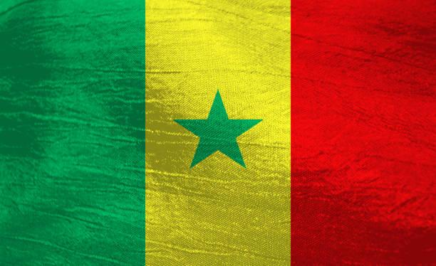 Bandeira nacional do Senegal - foto de acervo