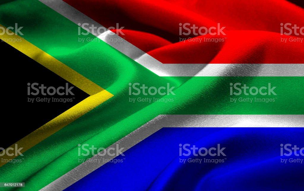 Bandeira nacional da África do Sul - foto de acervo