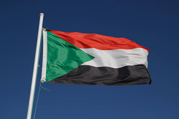 national flag of sudan - sudan stock photos and pictures