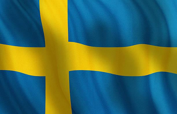 Bandeira Nacional da Suécia - foto de acervo