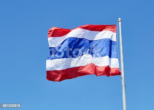 istock National flag of Thailand 881300818