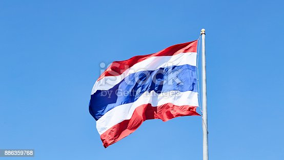 istock National flag of Thailand 886359768
