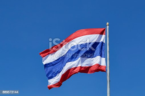istock National flag of Thailand 889573144