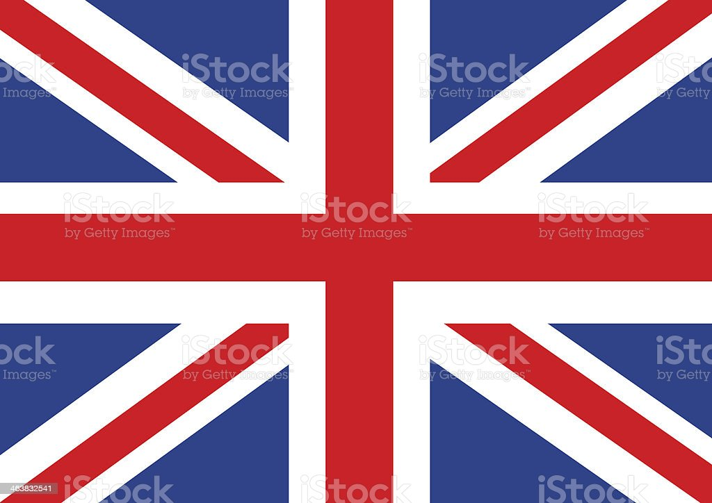 National flag of  the United Kingdom Great Britain stock photo