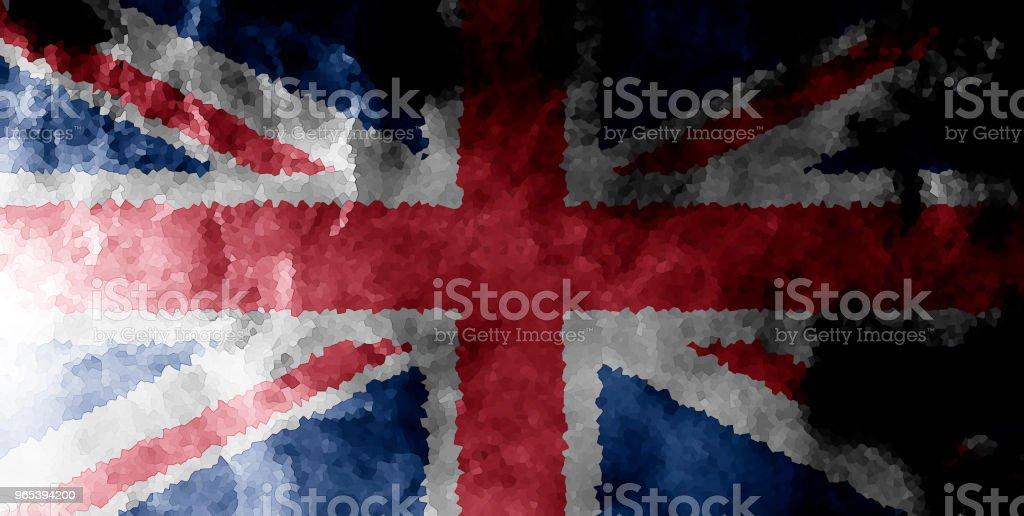National flag of United Kindom royalty-free stock photo