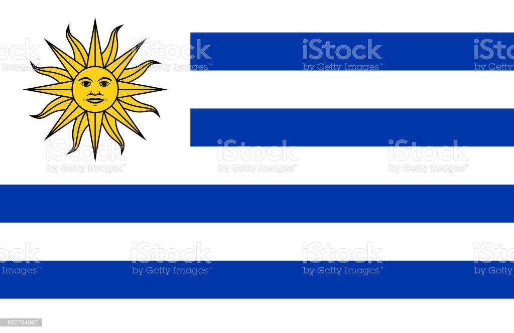 Bandera nacional de Uruguay - foto de stock