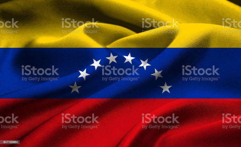 Bandera nacional de Venezuela - foto de stock