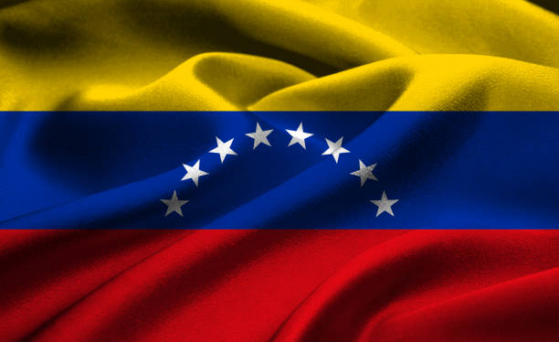 national flag of venezuela - venezuelan flag stock photos and pictures