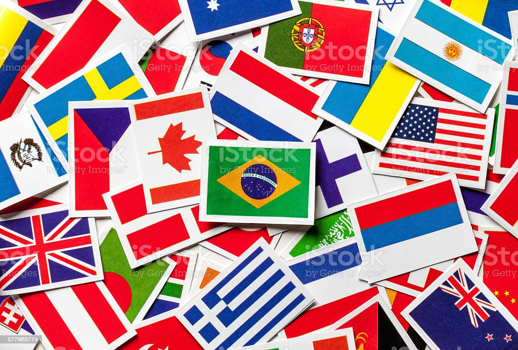 National flags of the countries of the world Brazilian flag - foto de stock