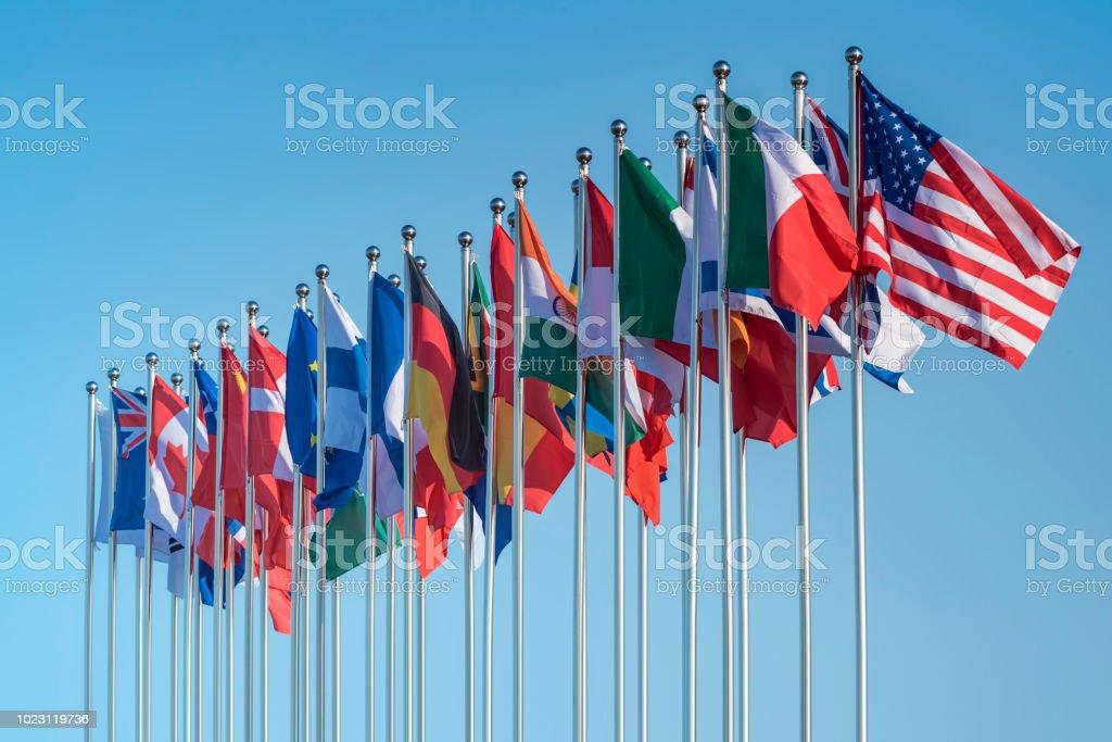 national Banderas - foto de stock