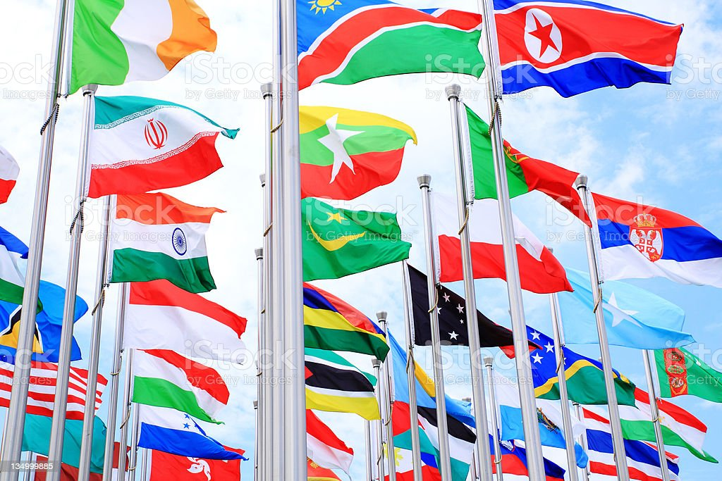 National flags royalty-free stock photo