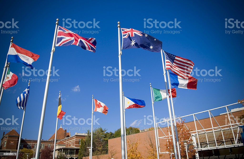 National Flags stock photo