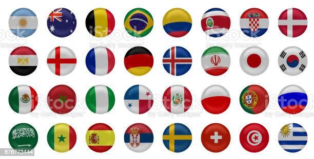 National football team flags