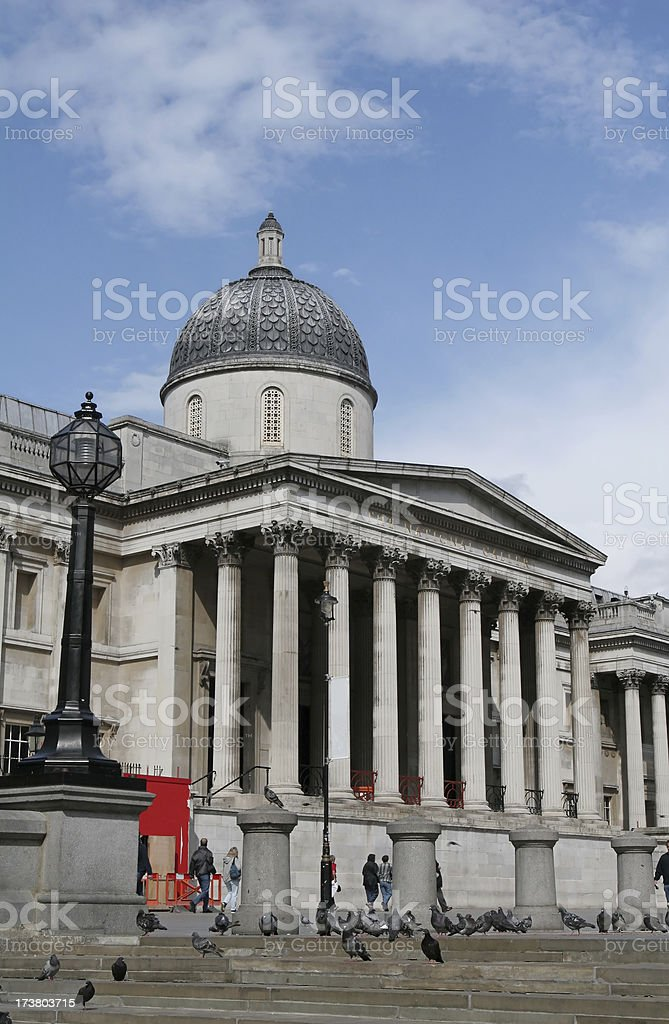 National Gallery in London royalty-free stock photo