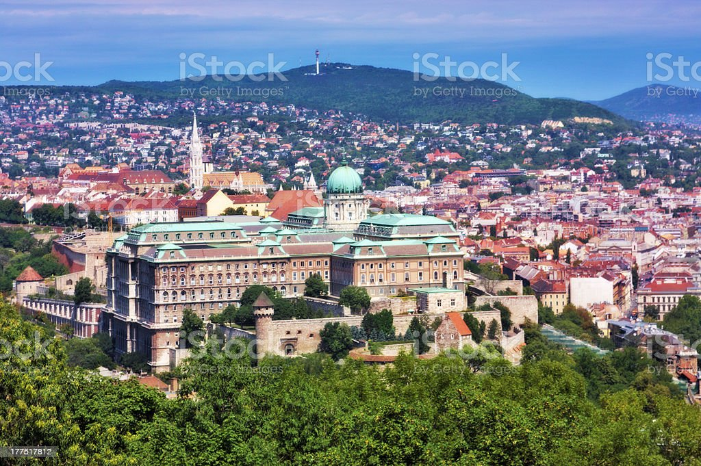 National gallery in the Buda part of Budapest city Hungary stock photo