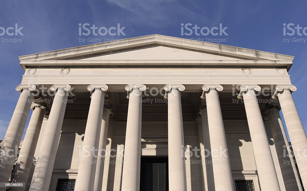 National Gallery of Art in Washington, DC stock photo