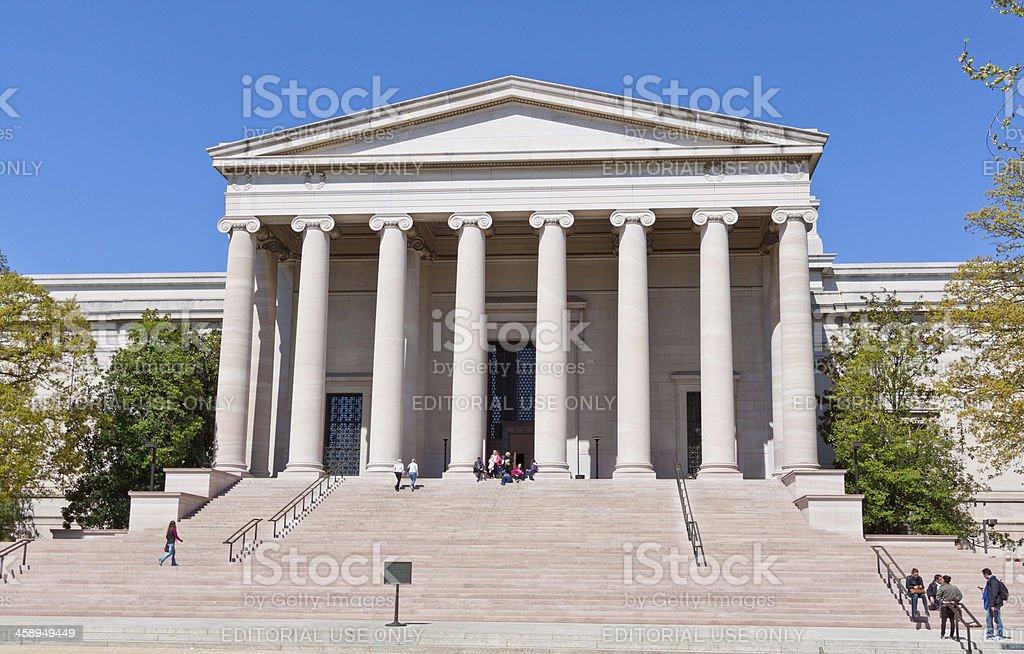 US National Gallery of Art, Smithsonian Museum, Washington. Blue sky. stock photo