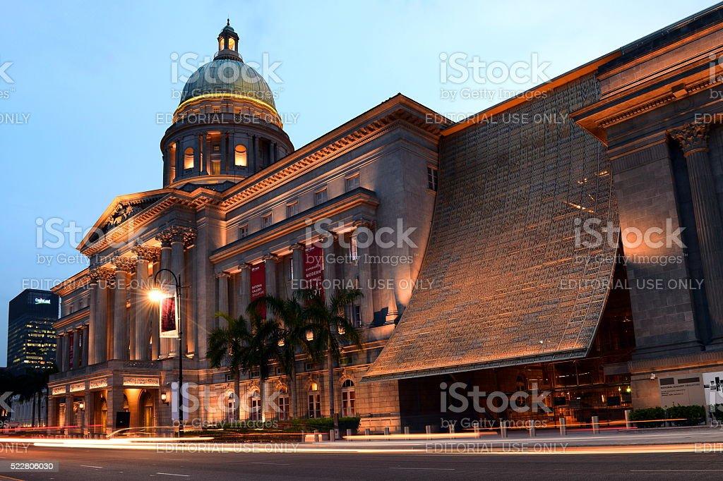 National Gallery, Singapore. stock photo