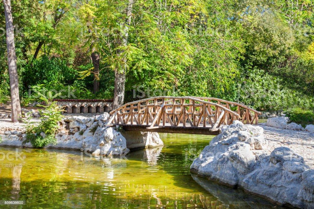National Garden in Athens stock photo