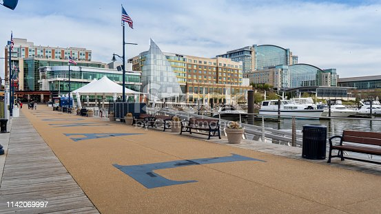 Cityscape of National Harbor in Maryland