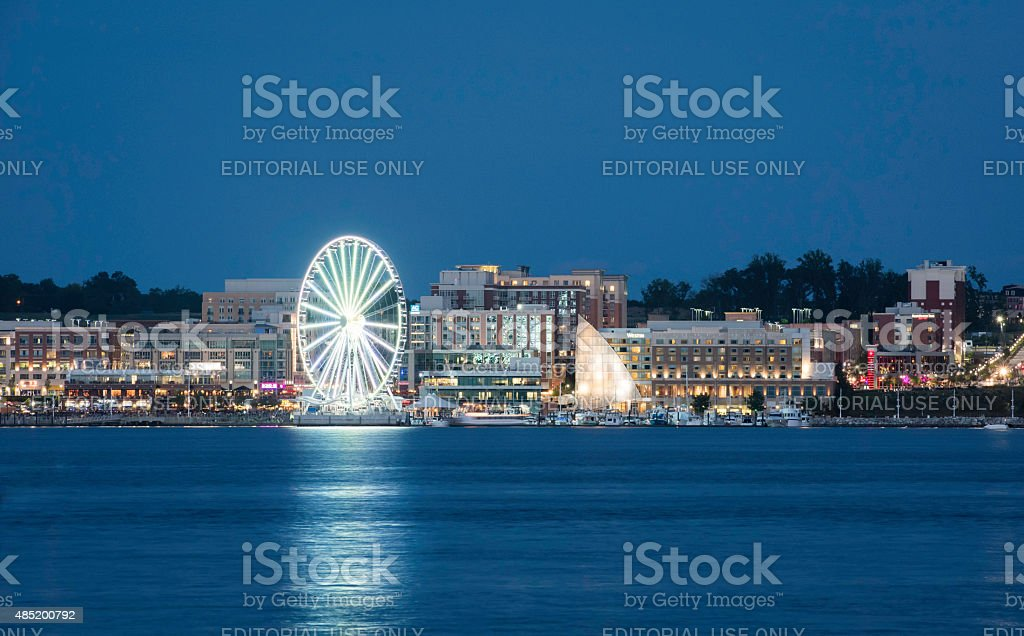 National Harbor Maryland stock photo