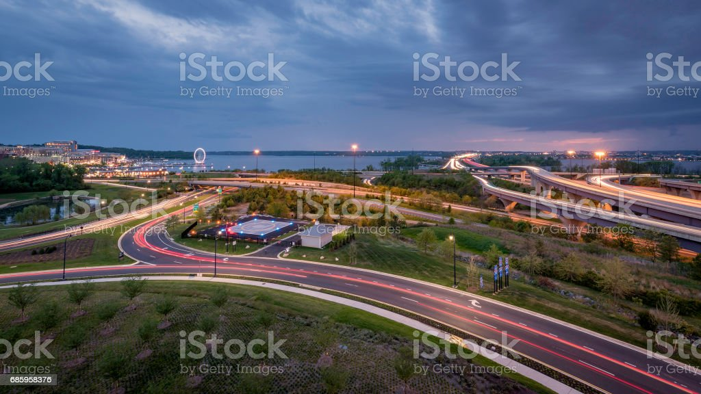 National Harbor Traffic stock photo