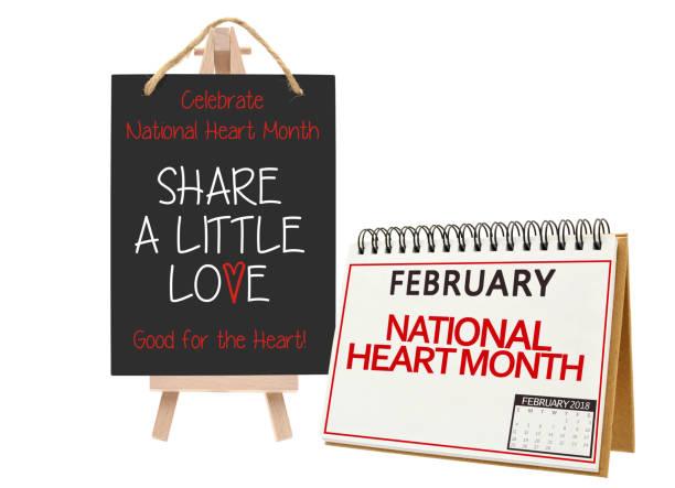 national heart month - month stock photos and pictures