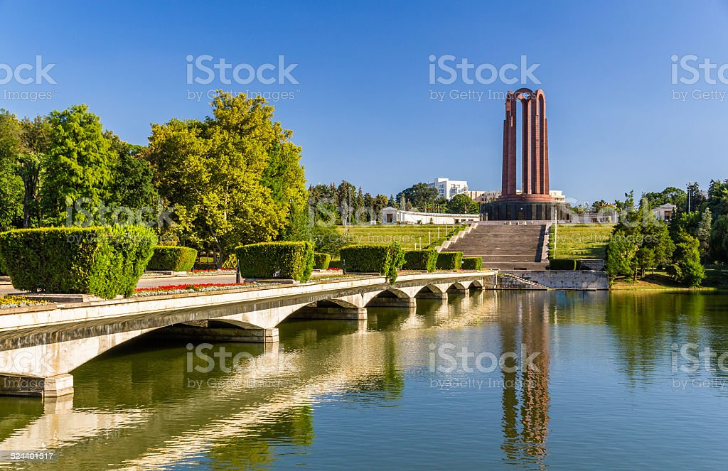 National Heroes Memorial in Carol Park - Bucharest, Romania stock photo
