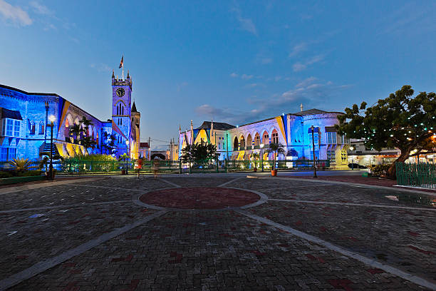 National Heroes Square, Bridgetown, Barbados stock photo