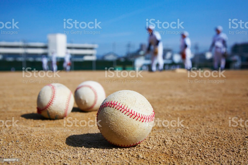 National high school baseball championship stock photo