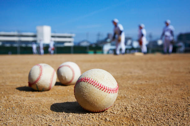 National high school baseball championship stock photo