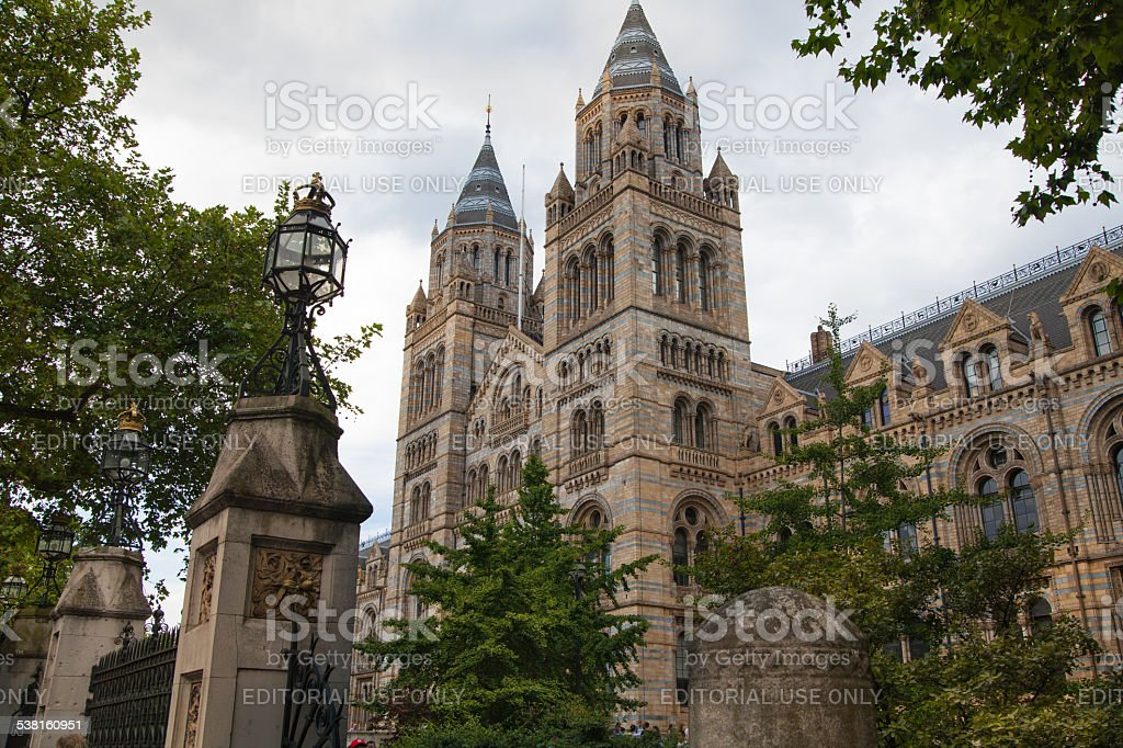 National History Museum, London. stock photo