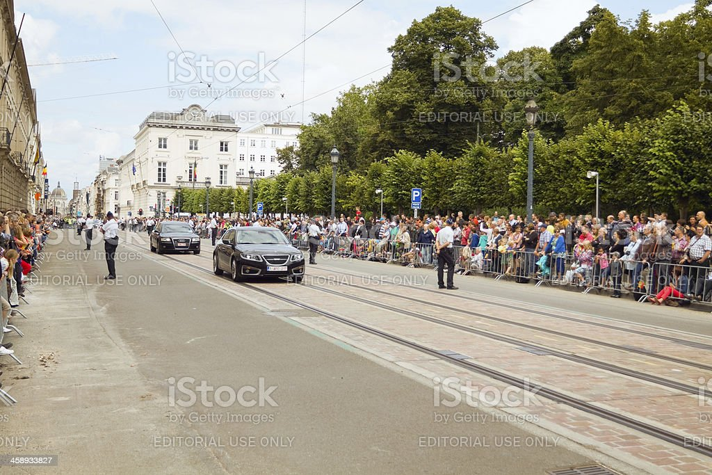 National holiday parade of Belgium royalty-free stock photo
