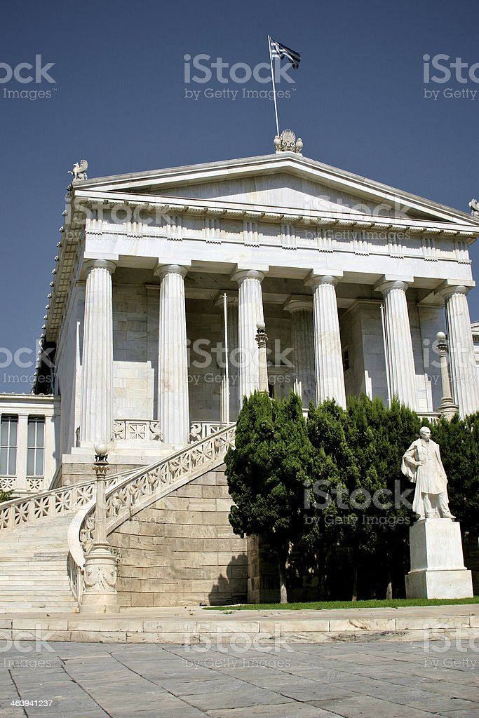 National Library in Athens royalty-free stock photo