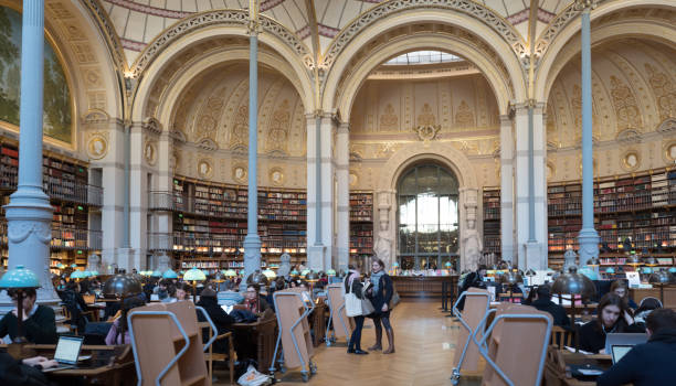 National Library of France, Paris, Richelieu site stock photo