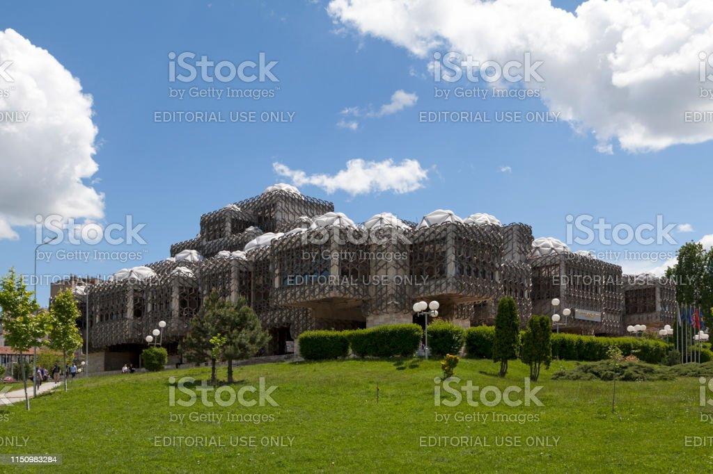 National Library of Kosovo in Pristina stock photo